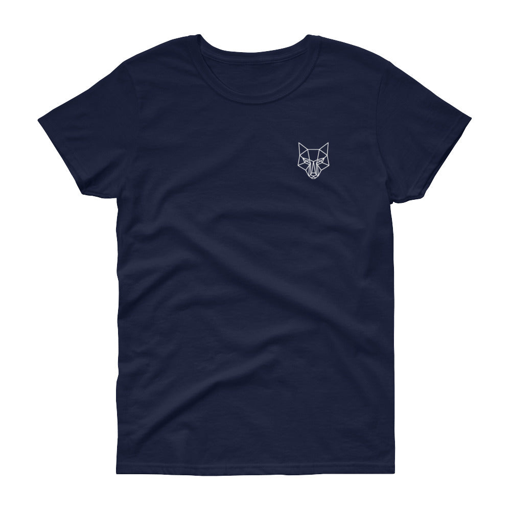 Women's original small logo t-shirt blue - youngvalueco