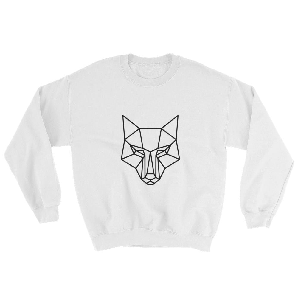 Large logo sweatshirt white - youngvalueco