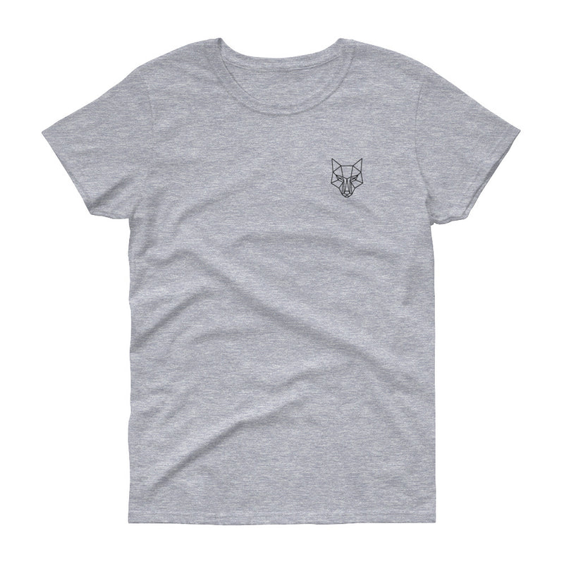 Women's original small logo t-shirt grey - youngvalueco