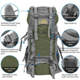 60L Outdoor Camping Backpack, Climbing Rucksack, Hiking Bag