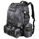 Outdoor Tactical Backpack for Camping, Hiking, Backpacking, 55L
