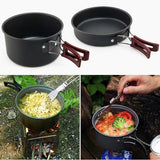 Camping Cookware 11-Piece Set, Non-Stick