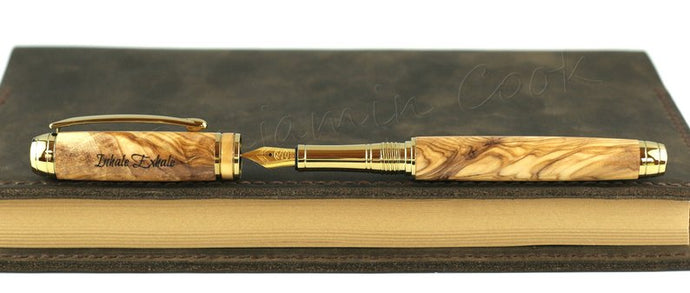 Methuselah 18K Gold plate fountain pen