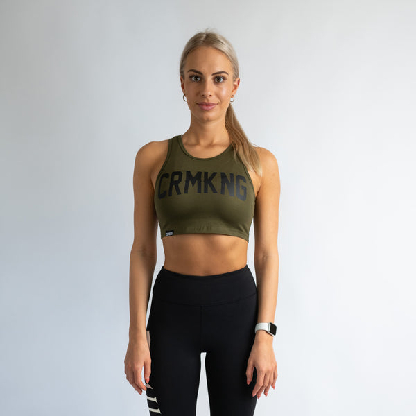 Criminal Kingdom Crop Top - Green