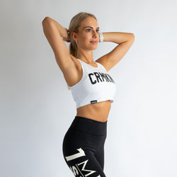 Criminal Kingdom Crop Top - White