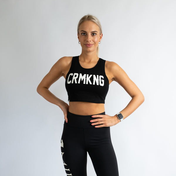 Criminal Kingdom Crop Top - Black