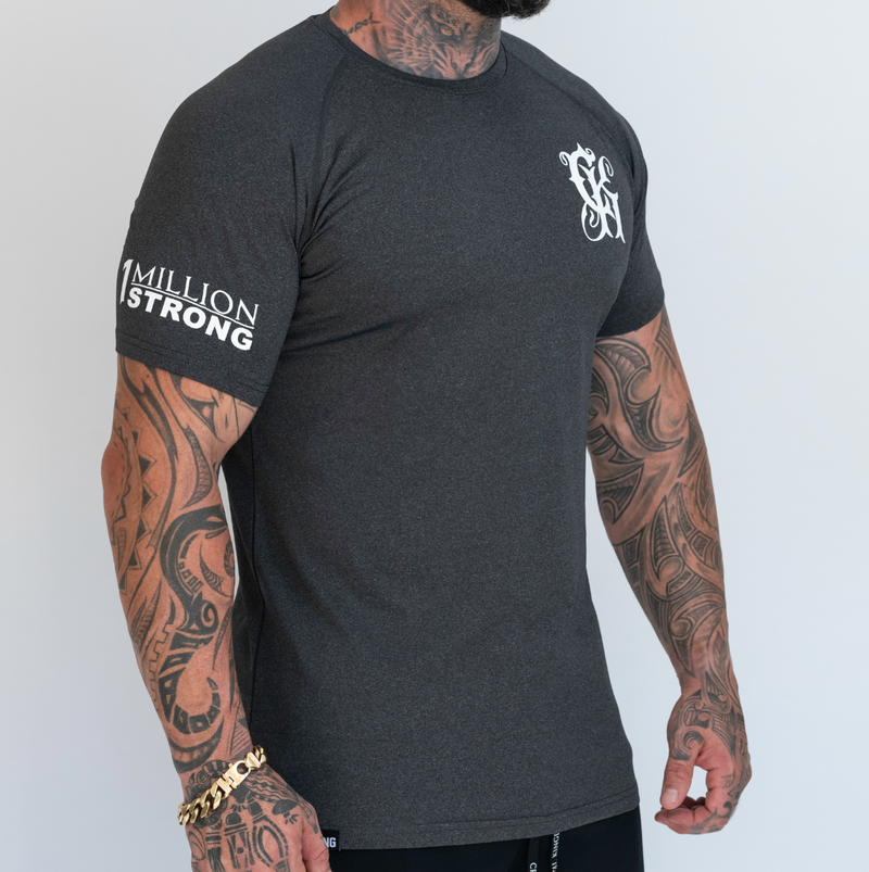 CK Dry Fit Tee - Charcoal Grey