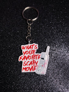 What's Your Favorite Scary Movie Keychain