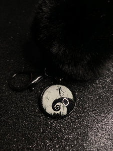 Jack On Spiral Hill Pom Pom Keychain
