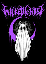 Load image into Gallery viewer, Wicked Ghost Metal T-shirt (Purple)