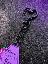Load image into Gallery viewer, Please Leave Me Alone Heart Keychain
