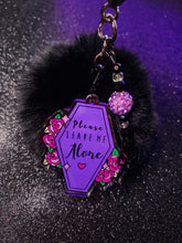 Load image into Gallery viewer, Please Leave Me Alone Pom Pom Keychain