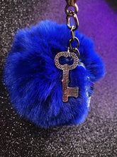 Load image into Gallery viewer, Coraline Pom Pom Keychain