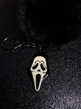 Load image into Gallery viewer, Ghostface Pom Pom Keychain