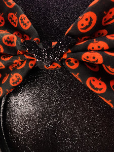 Wicked Headbands (Jack o lantern w/ bat)