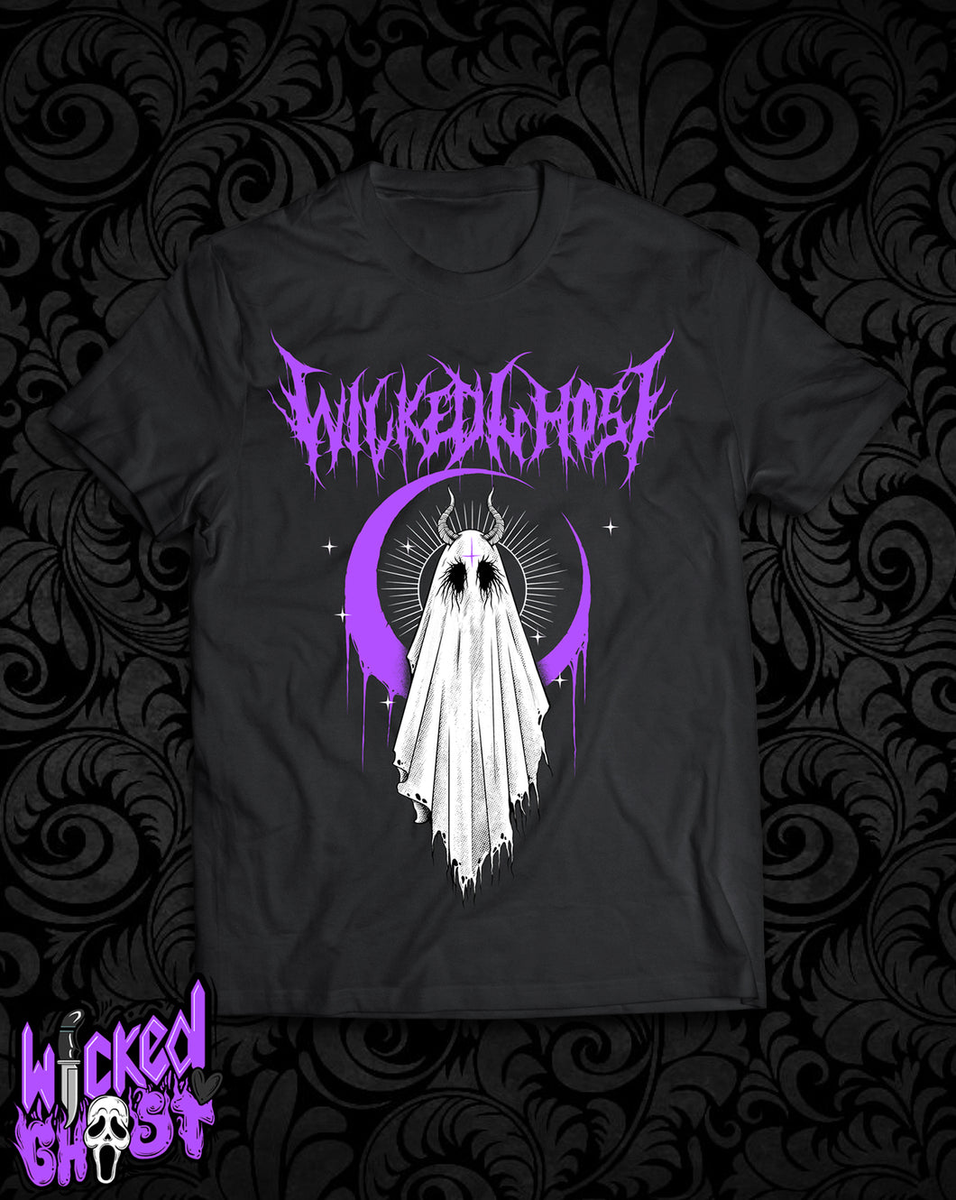 Wicked Ghost Metal T-shirt (Purple)
