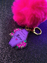 Load image into Gallery viewer, Please Leave Me Alone Pom Pom Keychain (pink)