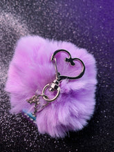 Load image into Gallery viewer, RIP Pom Pom W/ Heart Keychain