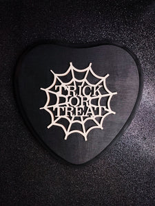 Trick Or Treat Spiderweb Heart