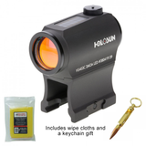 Holosun 403c - CLASSIC MICRO REFLEX SIGHT - DOT/SOLAR PANEL/SHAKE AWAKE + Bullet Keychain and Wipe Cloths