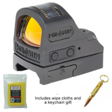 Holosun 508TGR - TITANIUM OPEN REFLEX SIGHT - GREEN CIRCLE DOT/SOLAR PANEL + Bullet Keychain and Wipe Cloths