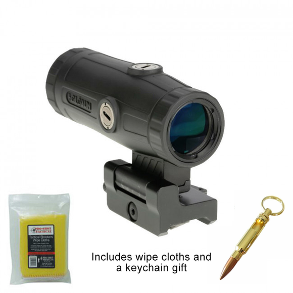 Holosun HM3X Classic Magnifier + Bullet Keychain and Wipe Cloth Package