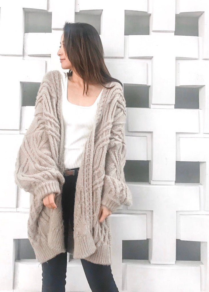Cable knit cardigan [SH-224]