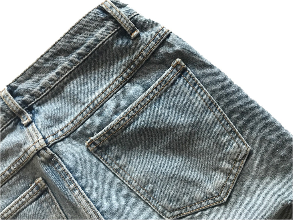Damaged Straight denim