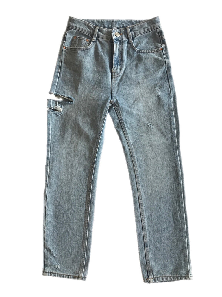Damaged Straight denim [SH-69]
