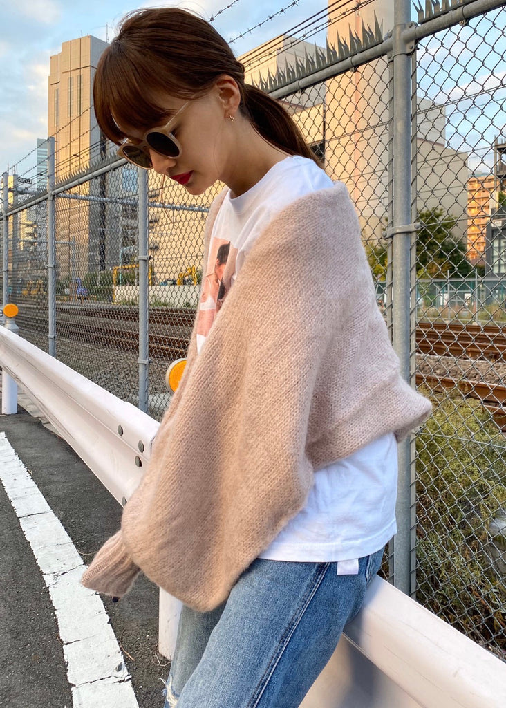 Volume mohair cardigan