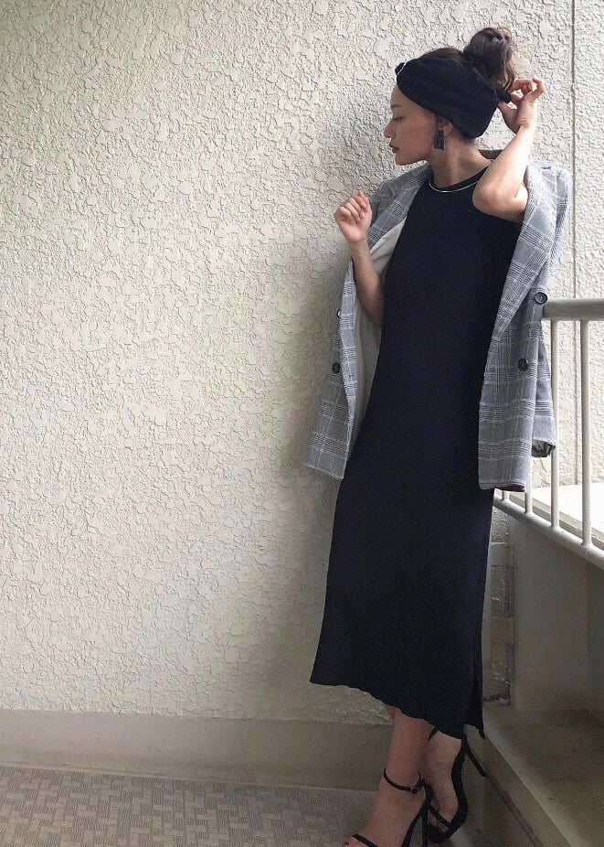 Sleeveless knit one-piece [SH-119]