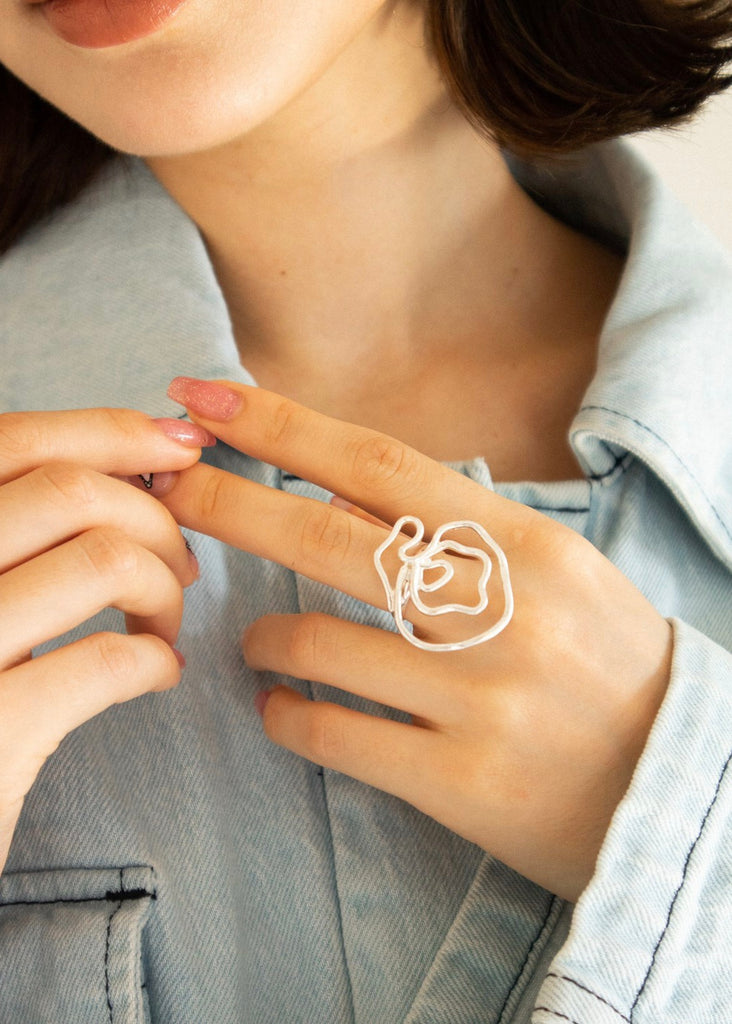 Rose deformed ring [SH-A65]