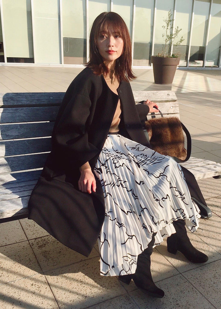 Accordion pleated skirt [SH-252]