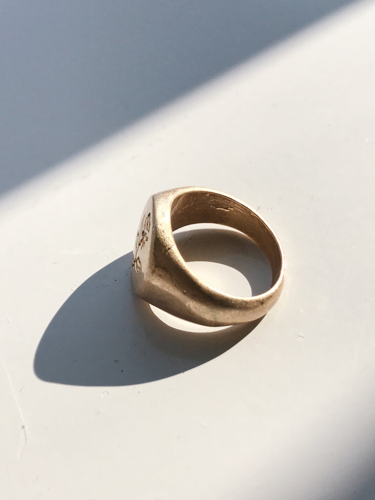 Mat gold rose ring[SH-A3]