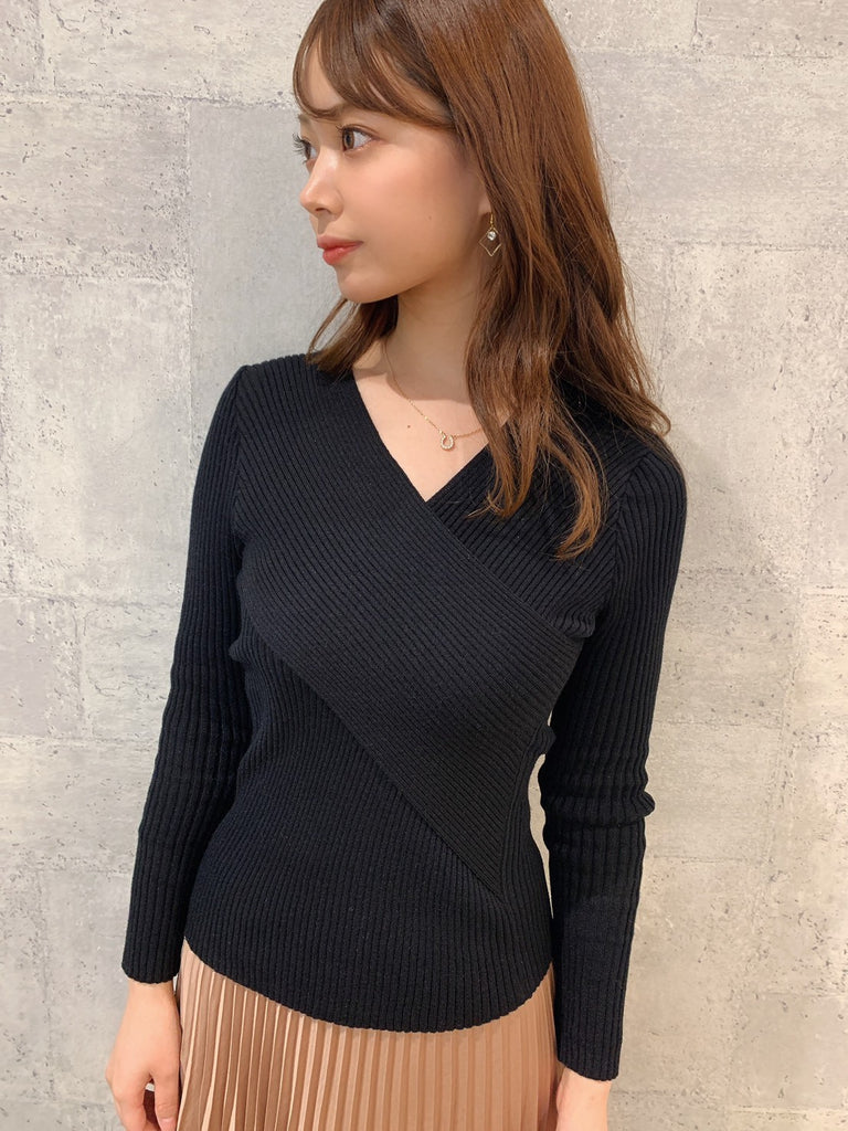 front cross rib knit