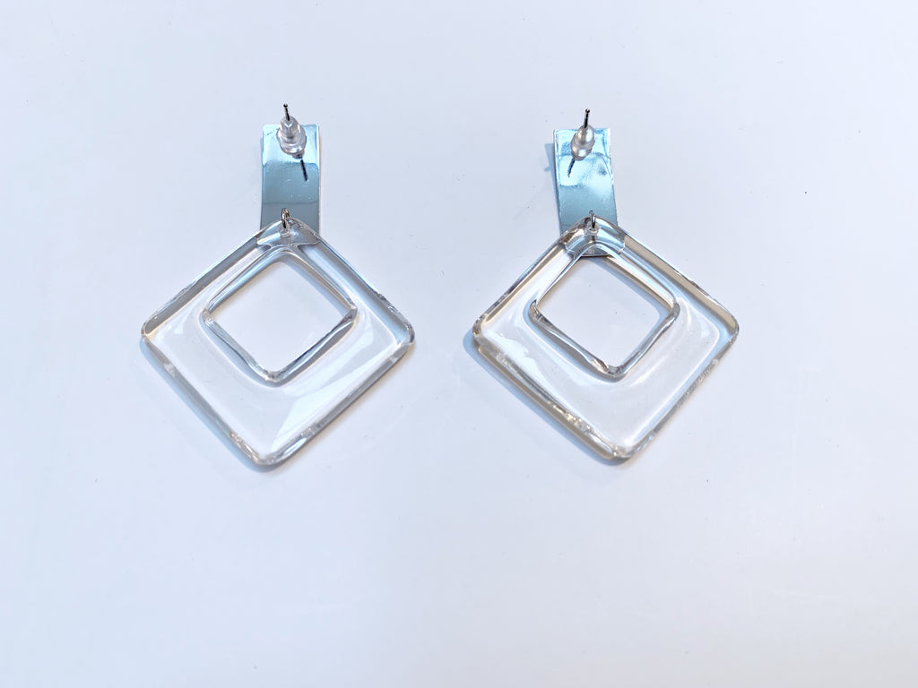 Clear acryl pierce/earrings [SH-A43]