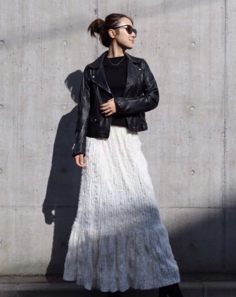textile shaggy skirt