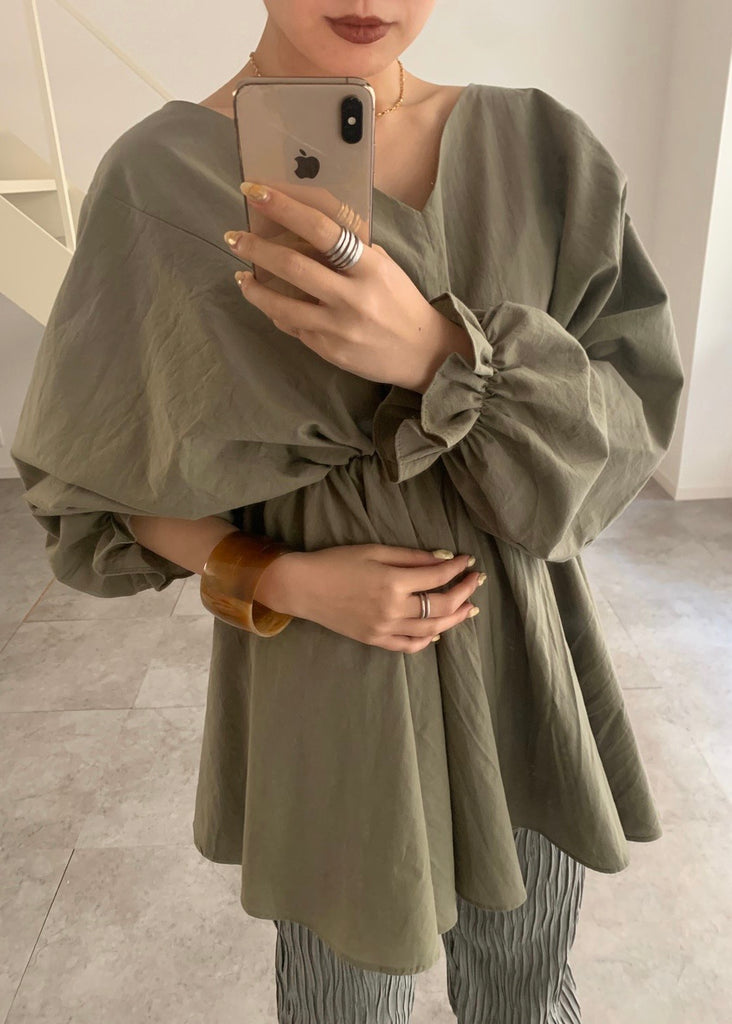 Volume sleeve tunic