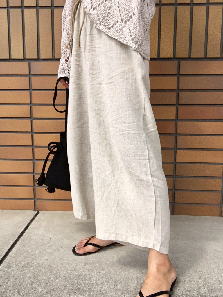 Relaxing wide pants[SH-107]