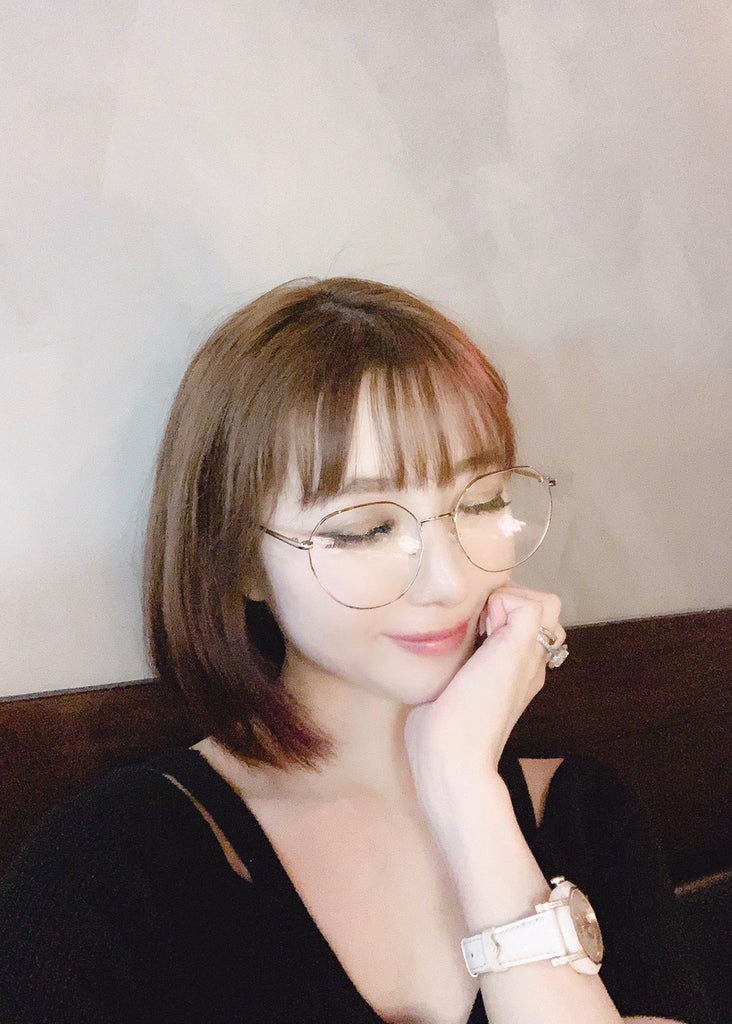 Thin frame silver glasses