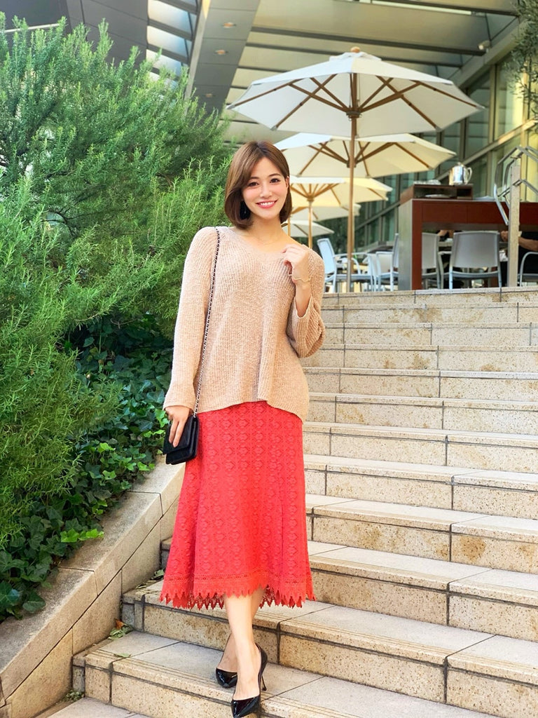 Scallop lace skirt