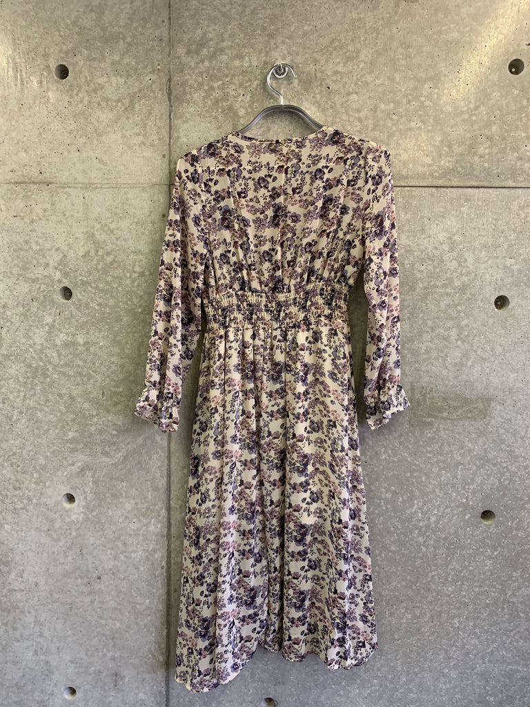 front button flower one-piece