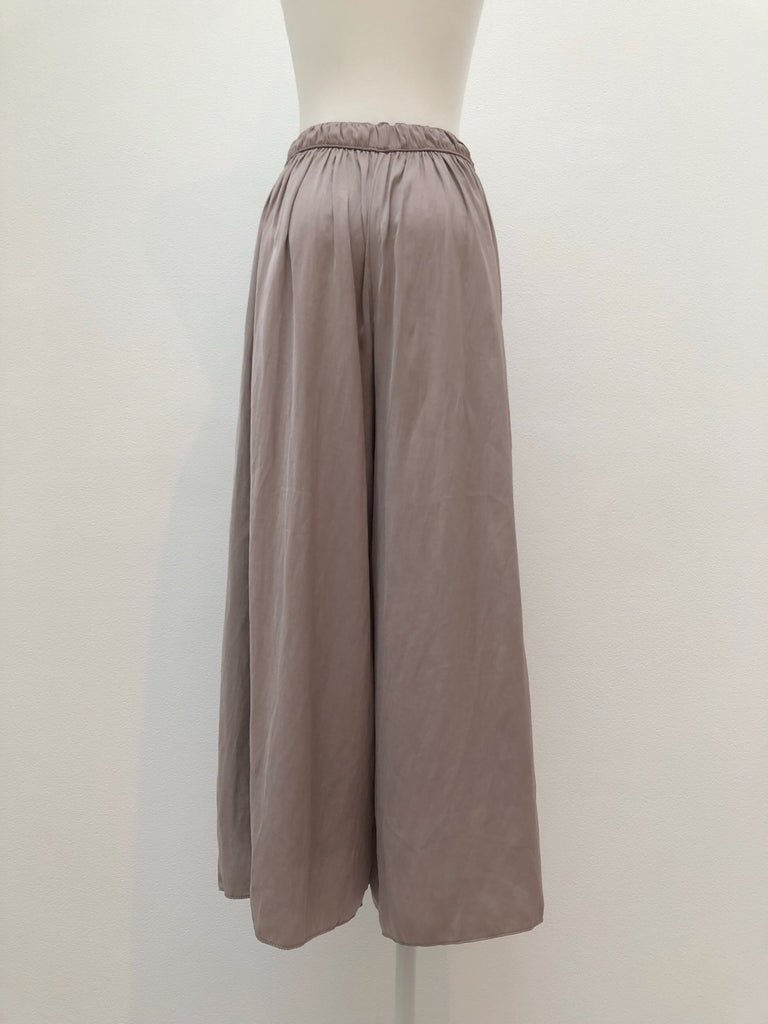 Satin like wide pants[SH-131]