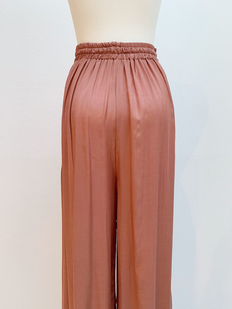 Satin like gather pants [SH-172]