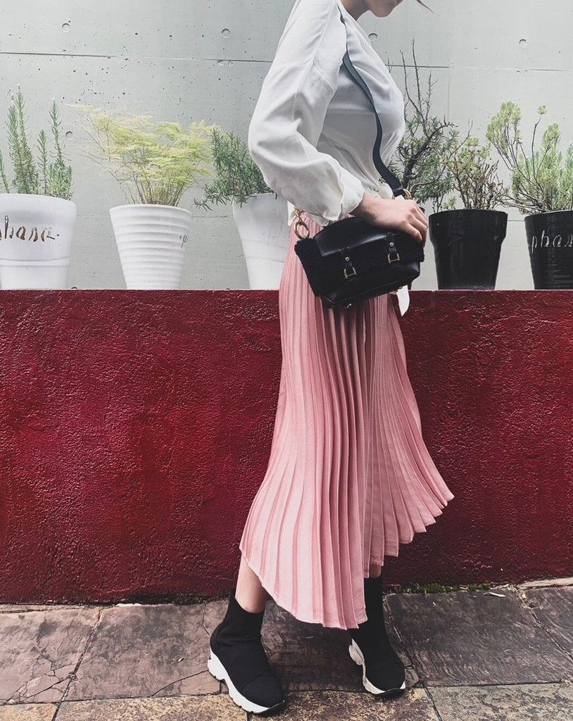 Pleats long skirt [SH-74]