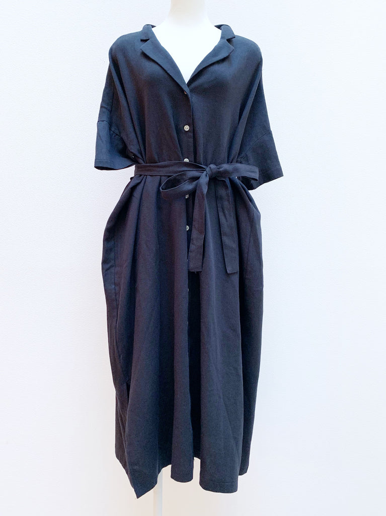Wide shirt gown / one-piece