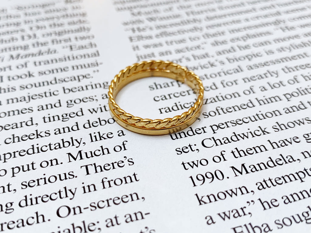 Mat gold ring set[SH-A80]