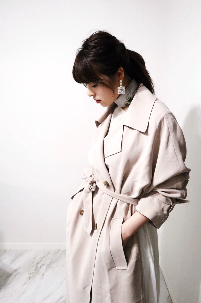 Back pleats trench coat[SH-92]