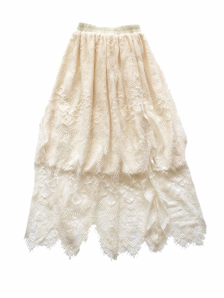 Lace flare skirt [SH-86]