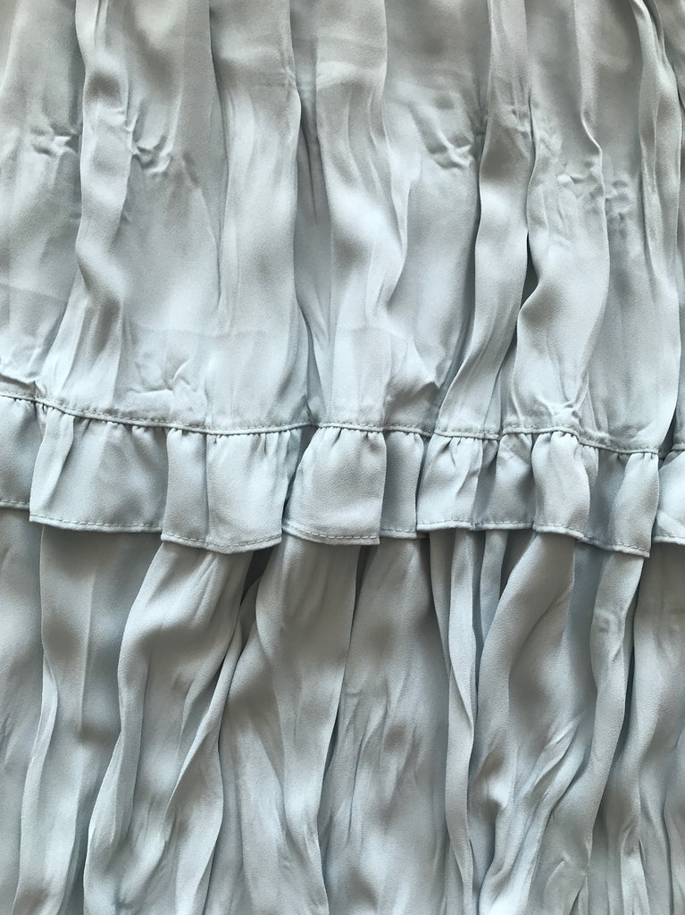 Crinkle tiered skirt
